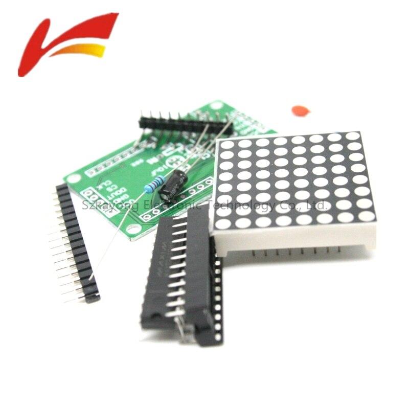 MAX7219 8*8 Dot Matrix Display Module Suite 5V MCU Control DIY Kits 5*3.2*1.5cm