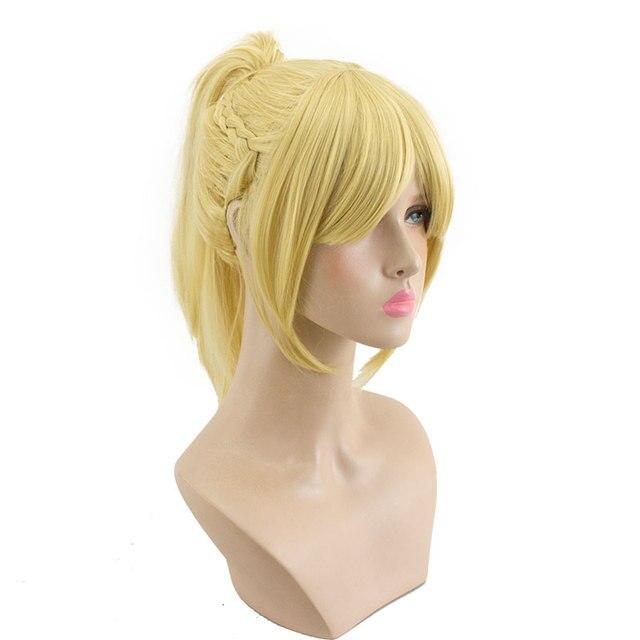 Hsiu alta qualidade mordred cosplay peruca fate/apocrypha traje jogar mulher perucas adultas dia das bruxas anime jogo cabelo