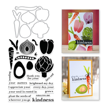 Naifumodo Farmer Market Vegetable Radish Clear Stamps and Metal Cutting Dies Scrapbooking New 2019 Craft Set Embossing Stencils hask argan oil repairing conditioner travel size