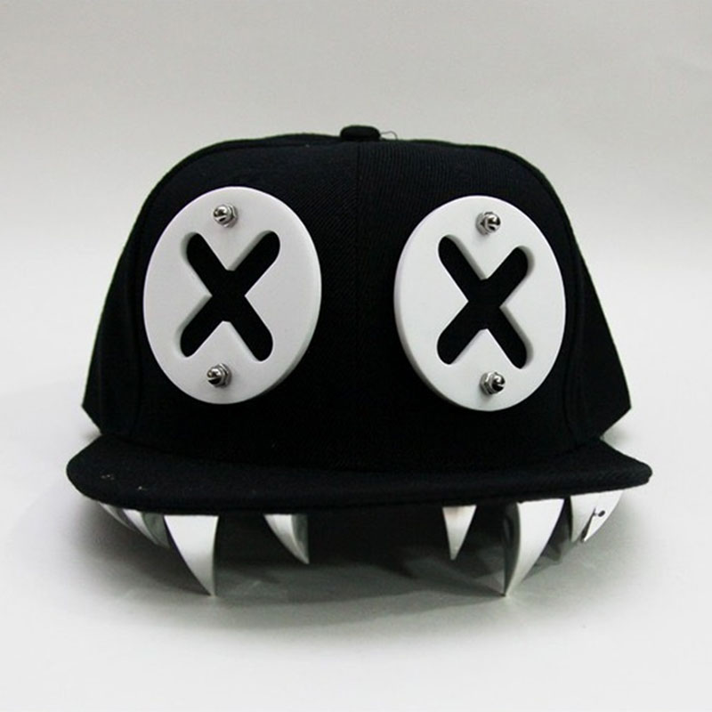Punk Hip Hop   Caps   Devil Monster Dental Acrylic Bone Snapback Hats Rivet   Baseball     Cap   Ockstar For Men And Women Bone Aba Reta