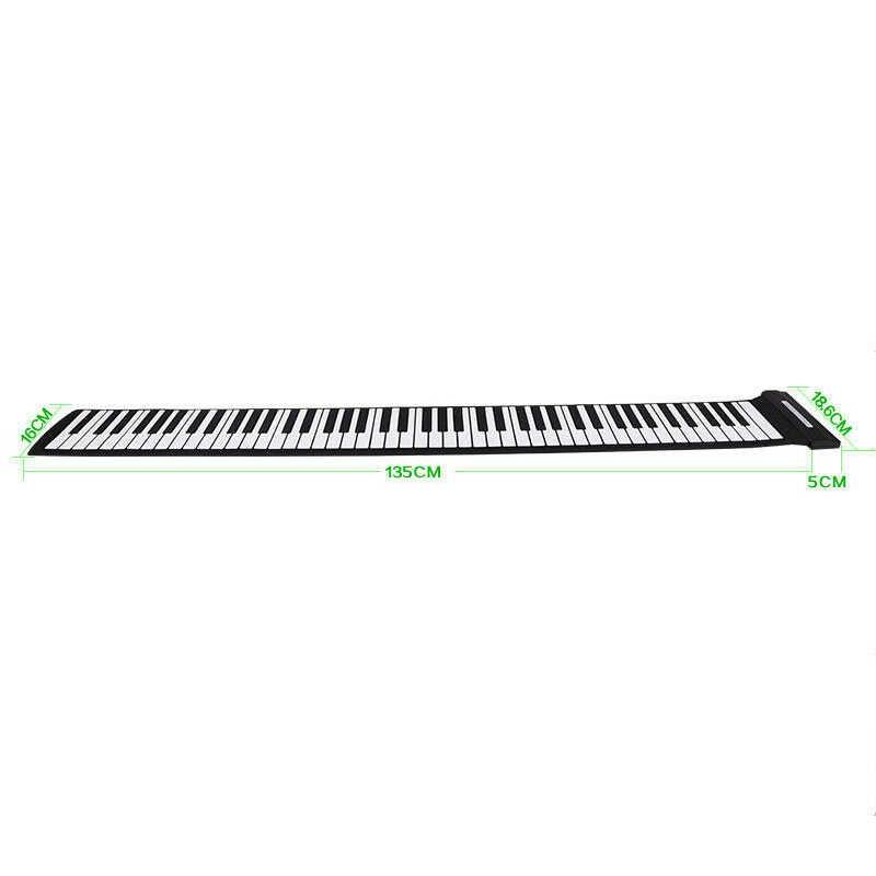 เปียโน 88 คีย์คาราโอเกะซิลิโคนคีย์บอร์ดอิเล็กทรอนิกส์แบบยืดหยุ่นไม่มีลำโพงใช้เชื่อมต่อคอมพิวเตอร์ #8
