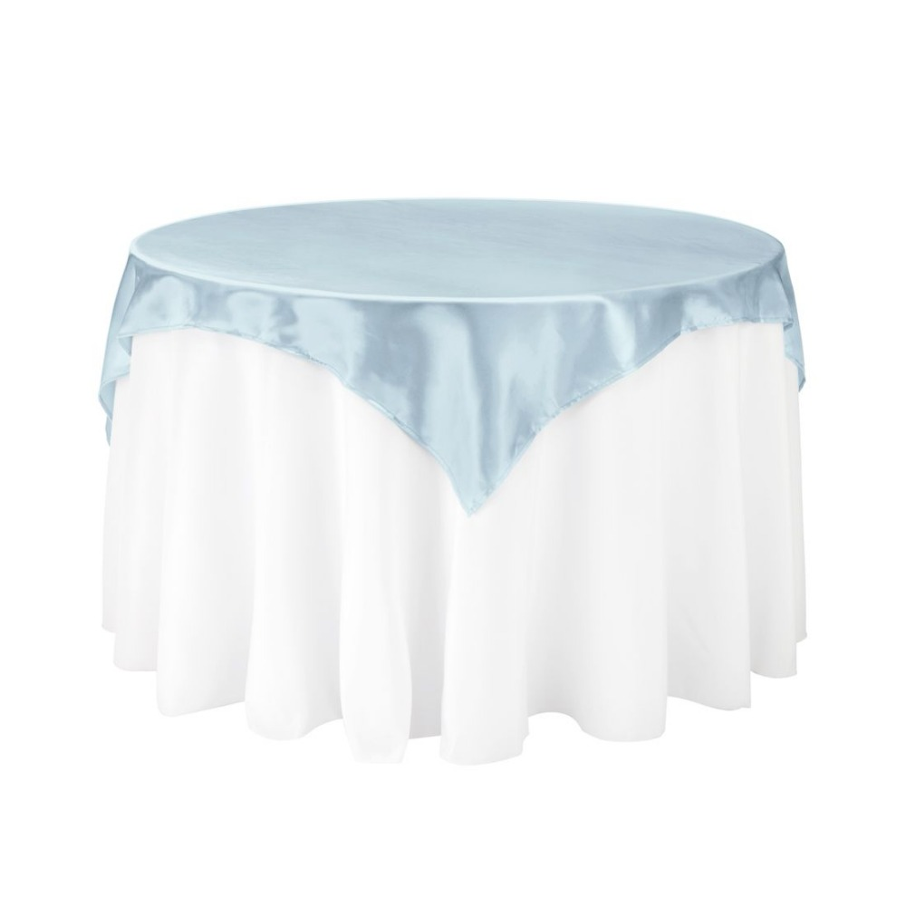 10Pcs 72*72 Baby Blue Square Table Overlay For Round Wedding/Party/Dinning Table Decoration Free Shipping10Pcs 72*72 Baby Blue Square Table Overlay For Round Wedding/Party/Dinning Table Decoration Free Shipping
