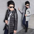 Children's clothes the boy hot style leisure fashion hat pulled the rope cotton-padded clothes down jacket