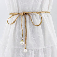 Sale Buckles Summer Dress Waistband  Strap Pearl Belt Waist Bead Accessories Women Fashion