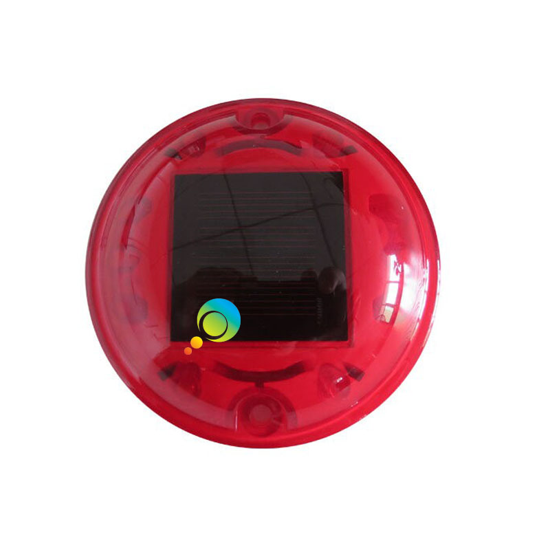 Hot selling garden light flashing led red color solar power road stud reflector