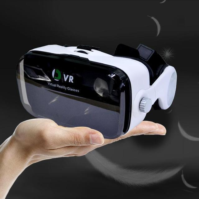With earphone box Head wearing 3D digital VR glasses virtual reality 3D stereo mirror VR film Shopping glasses