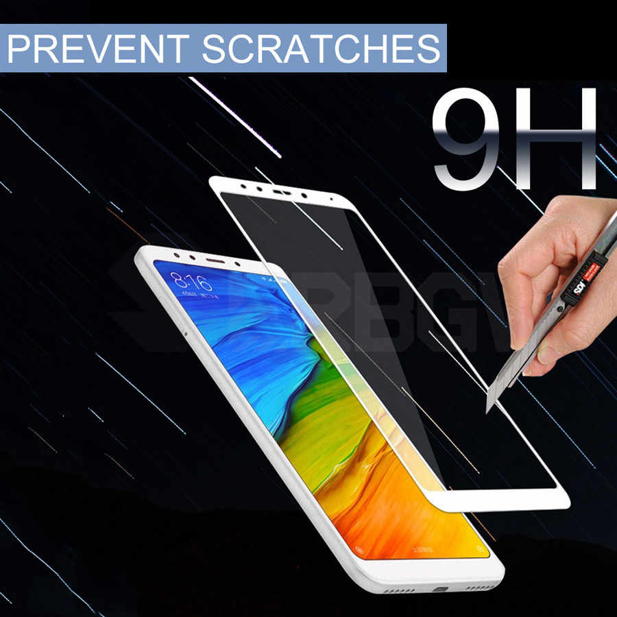 9 H Temperato di Protezione di Vetro Per Xiaomi Redmi 5 5 Più Completa Protezione Dello Schermo della copertura Per Redmi5 Più Redmi5Plus di sicurezza pellicola di vetro