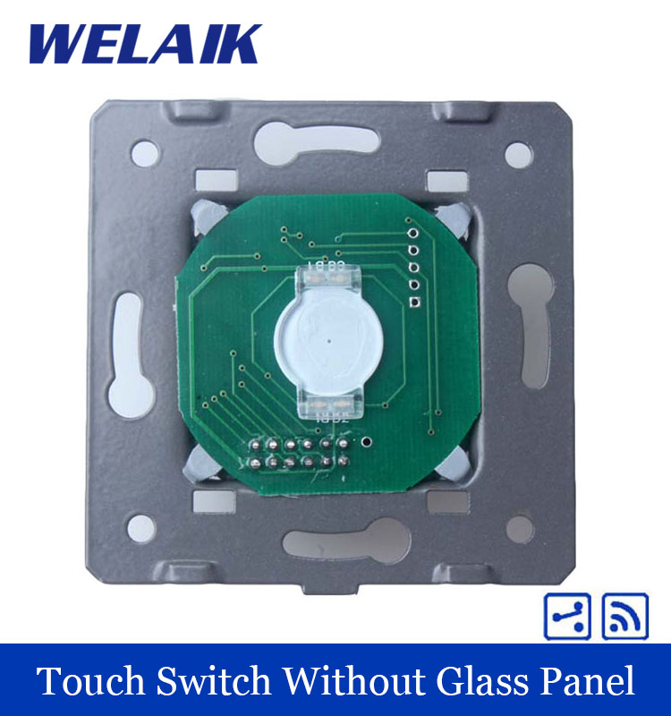 WELAIK  Switch White Wall Switch EU Remote Control Touch Switch DIY Parts Screen Wall Light Switch 1gang2way AC110~250V A914 welaik crystal glass panel switch white wall switch eu remote control touch switch light switch 1gang2way ac110 250v a1914xw b