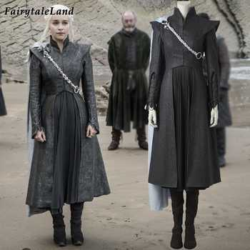 Game of Thrones Season 7 Daenerys Targaryen cosplay costume with cloak boots Fancy cosplay Dragon Daenerys Targaryen dress suit - DISCOUNT ITEM  15% OFF All Category