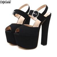 Sandalias mujer 17 см Высокие каблуки летние свадебные туфли Модная обувь на платформе Высокая Римские сандалии в стиле панк босоножки на высоком к...