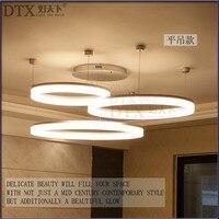 Креативные индивидуальные подвесные лампы led современный минималистичный кольцевой светильник для учебы мастер Спальня Гостиная Офис