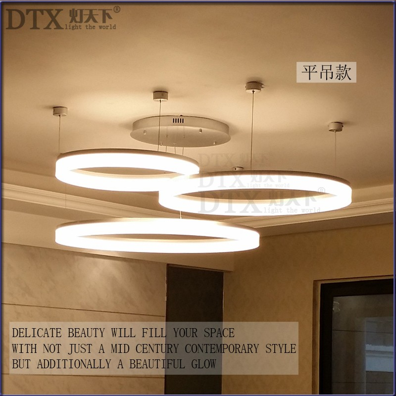 A1 Creative personality restaurant Pendant Lights led modern minimalist ring study lamp master bedroom living room office lights a1 led living room dining modern pendant lights ring fashion personality creative pendant lamp art bedroom hall pendant lamps
