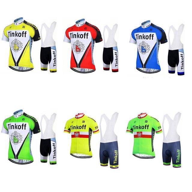 Verde amarelo manga curta camisa de ciclismo desgaste e bib equipe de  corrida roupas bicicleta desgaste 56d3582e989e6