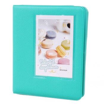 SOSW-Mini Photo Album 64 Slots for Fujifilm Instax Mini Film Mini 8 7s 25 50s 90 Camera-Mint Green