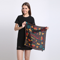 Silk Square Scarf 90cm 90m 100 Natural Silk Scarf Women 2015 New Summer Shawl Exclusive Desigual