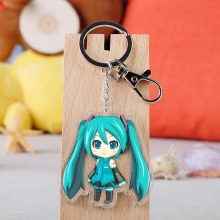 Japanese Anime Hatsune Miku Cartoon Figure Car Key Chains Holder Best Friend Graduation Chirstmas Day Gift