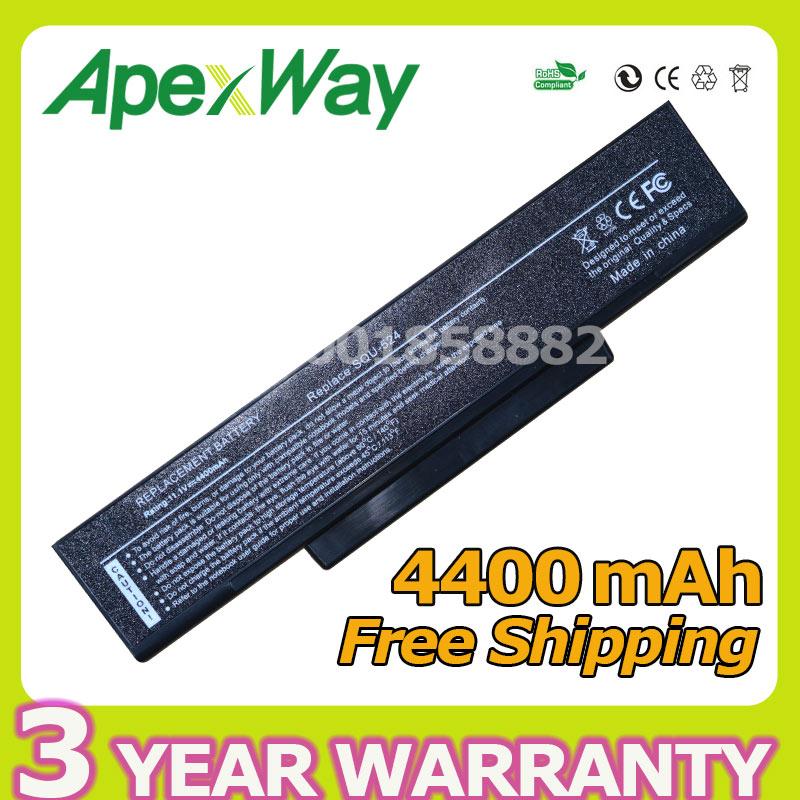 Apexway 4400mAh laptop battery for Asus A32-F2 A32-Z94 A32-Z96 A32-F3 SQU-528 SQU-529 SQU-706 SQU-718 A9 F2 F3 M51 Z53 Series