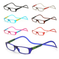 TFJ Magnetic Reading Glasses Men Women Clear Colorful Adjustable Hanging Neck presbyopic glasses +1.0 1.5 2.0 2.5 3.0 3.5 4.0