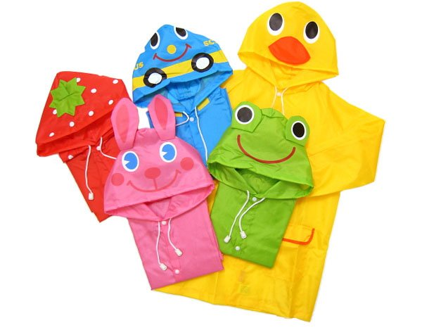 Free Shipping Kids Rain Coat children Raincoat Rainwear Rainsuit Kids Waterproof Animal Raincoat 10pcs lot