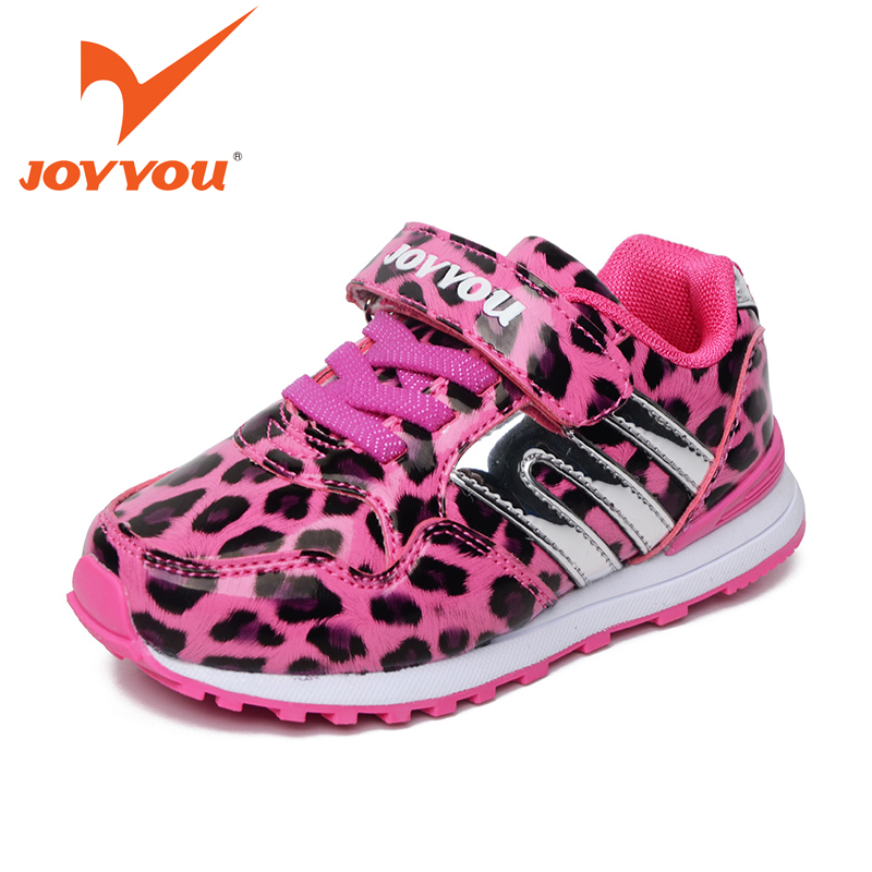 JOYYOU Brand 2017 Kids Casual Shoes Baby Synthetic Leather Fashion Leopard Children Shoes Little Girls Boots Sapatos Infant63581 joyyou brand kids shoes boys girls school sneakers children teenage footwear baby slip on canvas toddler for child fashion shoes