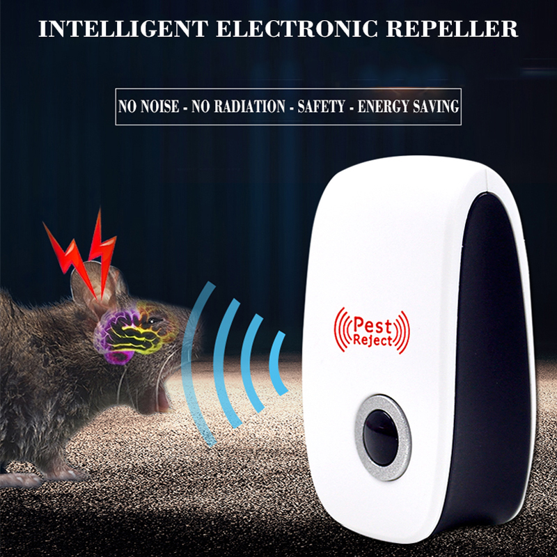 2PCS Rodent Ultrasonic Mice Repeller From Moles Rat Repeller Mole Muizen Ultrasoon Scarers Pulseras Antimosquitos Mole Repeller