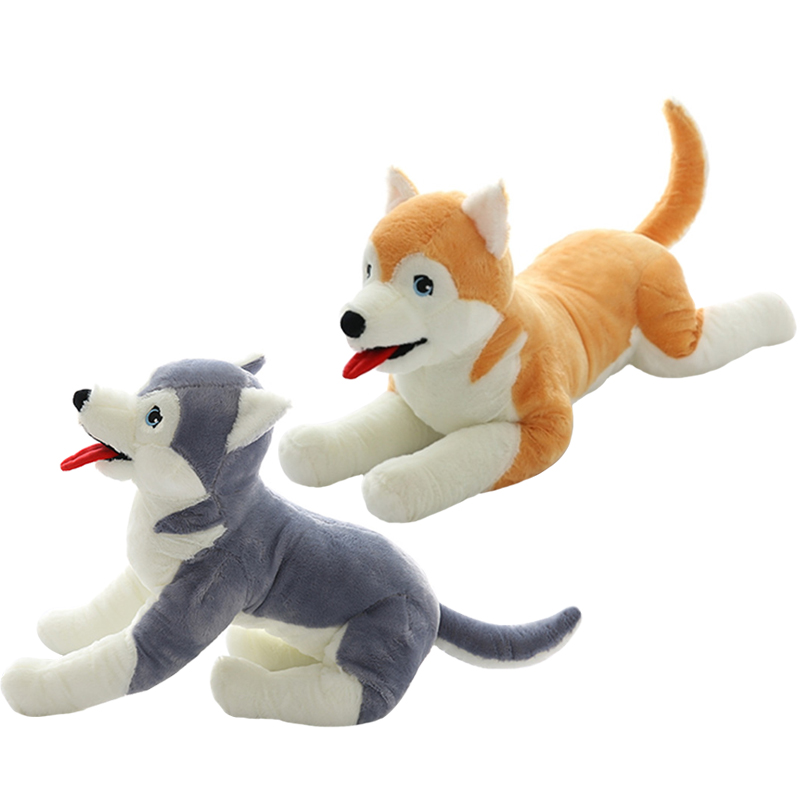 1pc 30cm  Kawaii dog Husky Plush Toys Stuffed Soft Animal Dog Toys Doll Creative Gift Birthday Gift for Kids недорого