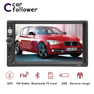 2 DIN авторадио автомобилей радио мультимедиа плеер gps навигации Камера Bluetooth MP4 MP5 стерео аудио авто электронный рулевого колеса