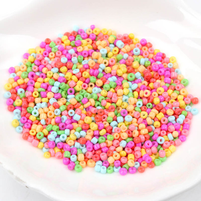 Neon Crystal Glass Spacer beads Czech Seed Beads For jewelry handmade DIY Free shipping 2mm 1000pcs 3mm 500pcs