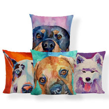 French Bulldog Boston Terrier Cushion Greyhound Samoyed Pillow Red Scandinavian Home Nap Mat Pillow With Cover 43Cm Cotton Blend(China)