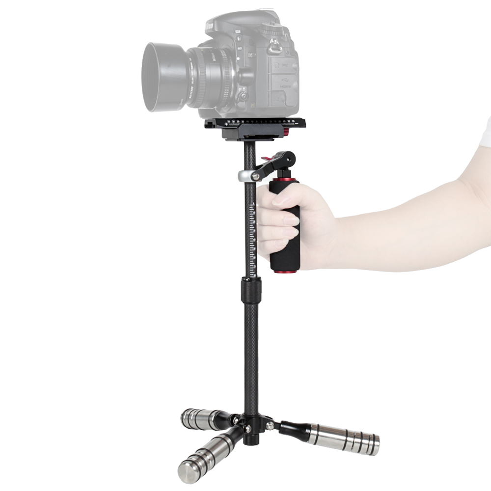 ASHANKS Dslr Mini Steadycam Handheld Camera Stabilizer Carbon Fiber Steadicam for phone/ gopro/Camera Load 0.5-3KG ashanks hd2000 handheld stabilizer for camcorders slr dslr 7d 600d 700d d5200 d3200 video camera