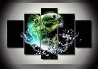 HD Printed Abstract Green Fish Group Painting Room Decor Print Poster Picture Canvas Free Shipping F007