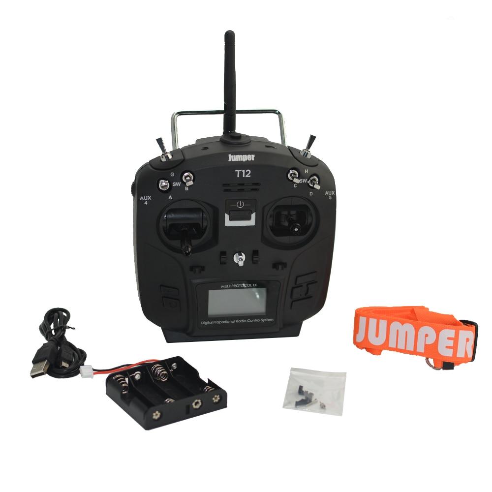цена на Jumper T12 Plus Multi-Protocol Hall Sensor Gimbal OpenTX Up To 16CH Radio Transmitter JP4-in-1 RF Module Left Throttle Mode2