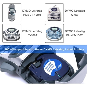 Image 2 - Unistar 7 Pack 91201 Compatible for Dymo Letratag Tape 12mm 91330 16952 91331 91332 Mixed Color Tape for Dymo LetraTag lt 100h