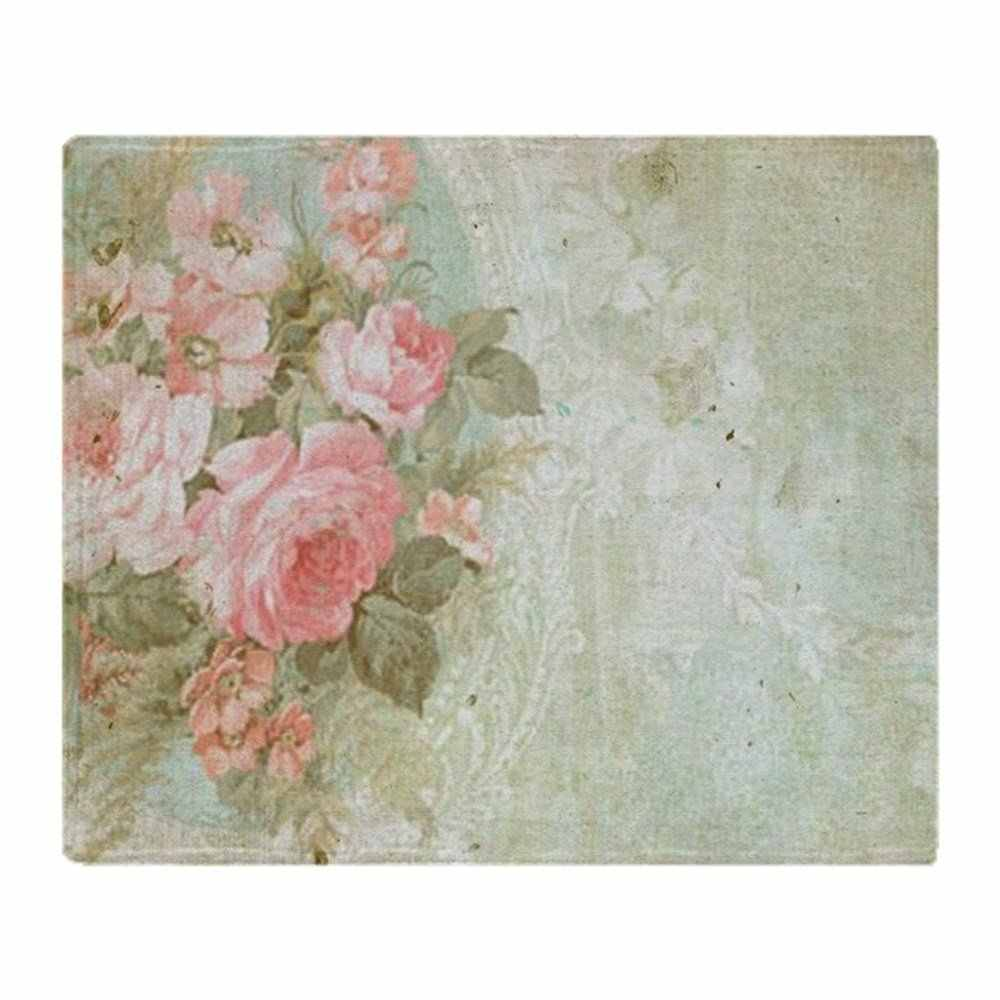 Chic Vintage Pink Rose Soft Fleece Throw Blanket Soft Flannel Blanket to on for the sofa/Bed/Car Portable Plaids