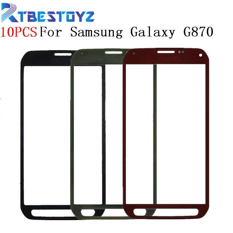 RTBESTOYZ 10PCS 5.1 inches Touch Screen <font><b>Glass</b></font> <font><b>Replacement</b></font> For <font><b>Samsung</b></font> <font><b>Galaxy</b></font> <font><b>S5</b></font> Active G870A G870 Outer Front Screen <font><b>Glass</b></font> Lens image
