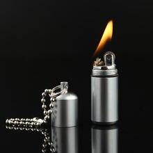 Портативная керосиновая зажигалка карманная для ключей с бензиновым