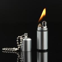 Portable Kerosene Lighter Outdoor Key Chain Pocket Gasoline Flint Lighter Inflated Keychain Oil Lighter Free Fire Lighter