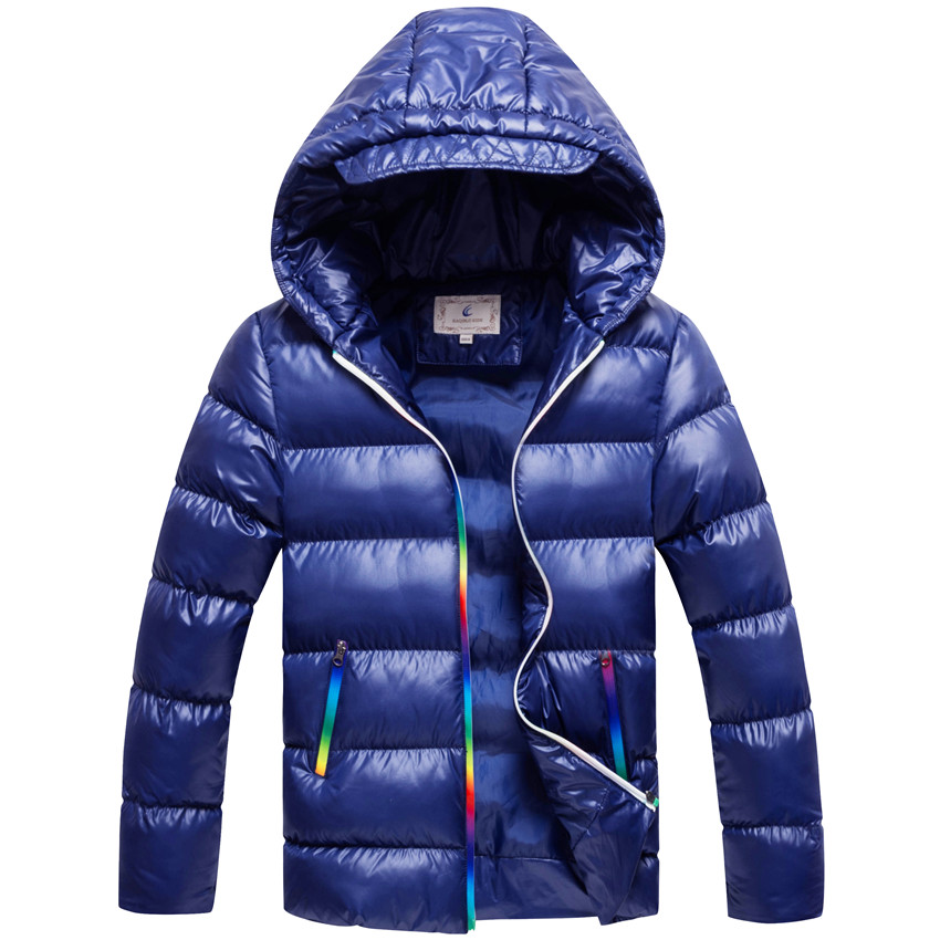 Boys Winter Coat Parkas Wadded Jackets Outerwear Cotton Jacket Fashion Casual Thick Warm Coat For Boy 130-170 High Quality