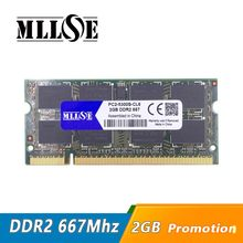 MLLSE 2gb ddr2 667 pc2-5300 sodimm المحمول ، ddr2 667 mhz 2gb pc2-5300S so-dimm دفتر ، ذاكرة عشوائية Ram ddr2 2gb 667 mhz sdram(China)