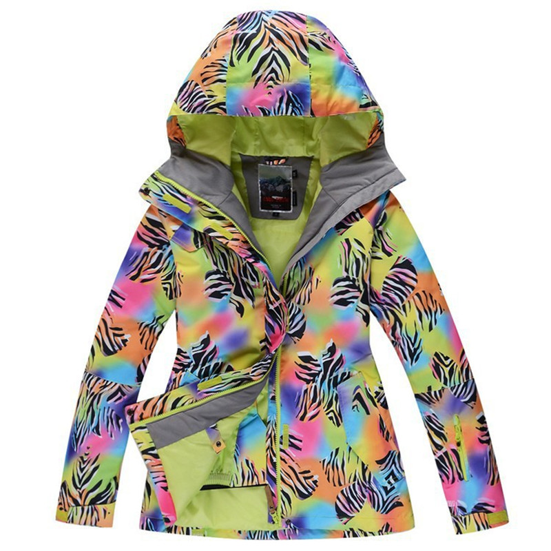 Zebra pattern Snow Jackets Woman Skiing Coat Waterproof Windproof Breathable Snowboarding jacket winter outdoor snow ski clothes dropshipping 2015 rossignol winter snowboarding jacket ski snow jacket women waterproof breathable windproof skiing jackets