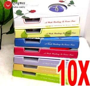 Image 1 - Qingmos 10 cajas de colgante de corazón y Perla para mujer, conjunto de regalo, gargantillas, collar, colgante, amor, ostra