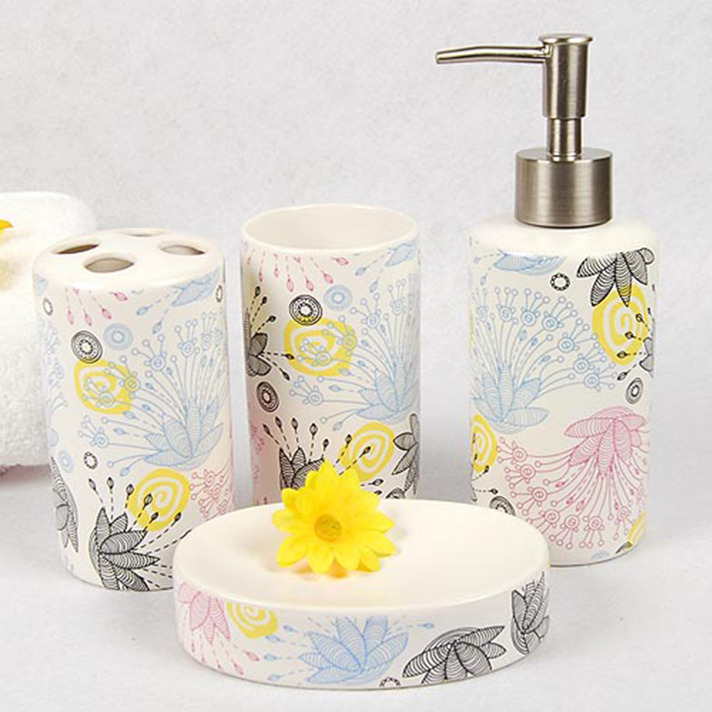 Set Of Bathroom Ceramic Accessories Bath Set Eco friendly Wash ...
