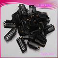 100pcs Wig Hair Clips High quality  Black I-Shape Hair Extensions Clips 32mm  Wigs Snap Clips /hair extension clips