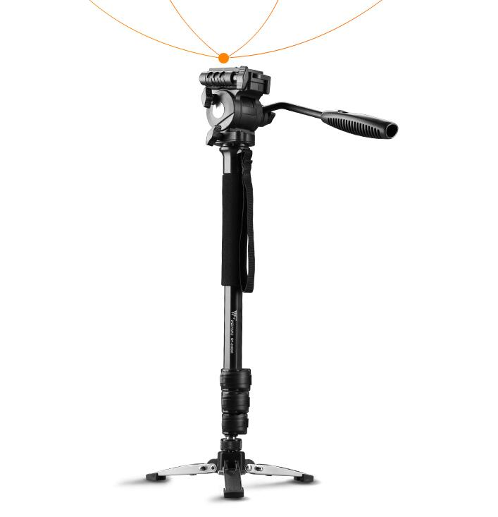 WEIFENG WF 3958M Camera DSLR Monopod Tripod Video DV Fluid Head Holder Travel Camcorder