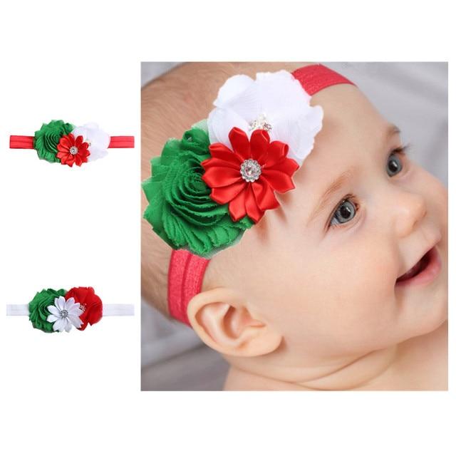 Christmas Style Children Holiday Cartoon Stitching Flower Head Wear Babys Hair Accessories Creative Newborn Hairband