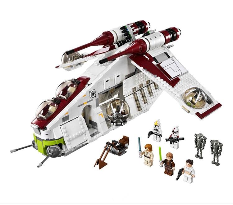 [Yamala]IN STOCK New Lepin 05041 Genuine Star War Series The The Republic Gunship Set Educational Building Blocks Bricks Toys