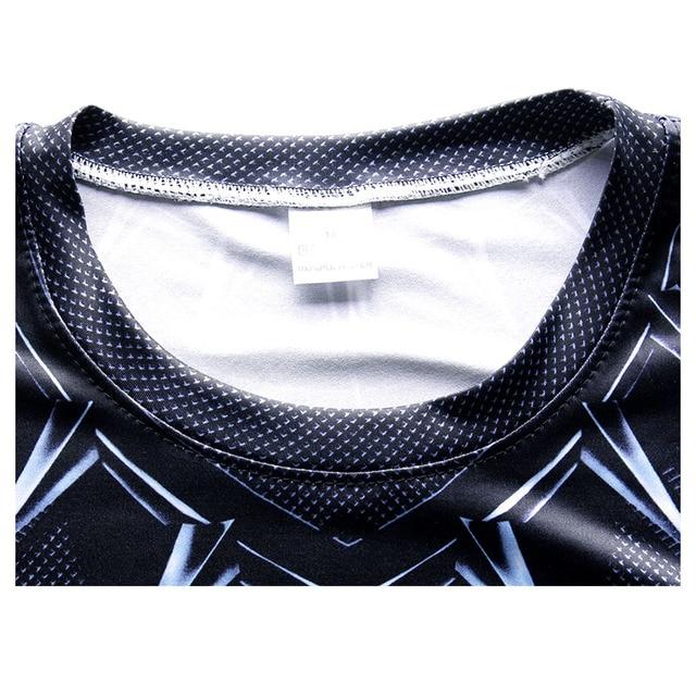 Black Panther Supermen 3D T Shirt Short Sleeve Compression Shirt Men Crossfit Fitness Tops Anime tshirt camiseta rashguard MMA 4