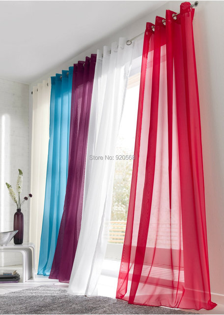 free shipping wholesale hot sale curtains multi colors living room ...