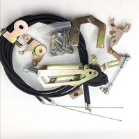 fajs Twin Cable Top Mounted Throttle Linkage Kit fit WEBER DCOE dellorto Carb 38s 40/45/48/55s carburettor top quality