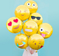 "Factory Outlet 18"" Reusable Emoji Mylar Party Balloons Emoji Balloons Emoji Party Supplies 350pcs/lot"